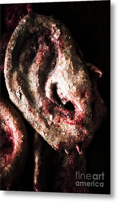 Ears And Meat Hooks  Metal Print