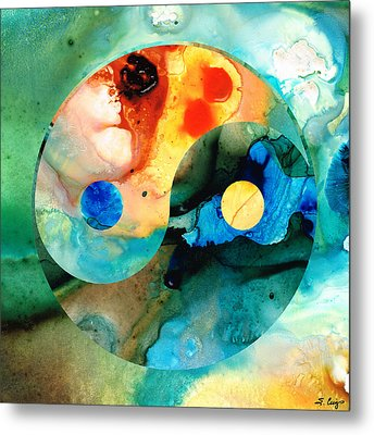 Earth Balance - Yin And Yang Art Metal Print by Sharon Cummings
