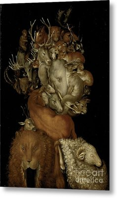 Earth Metal Print by Giuseppe Arcimboldo