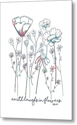 Metal Print featuring the digital art Earth Laughs In Flowers by Heather Applegate