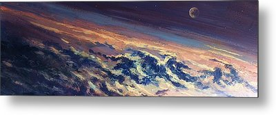 Metal Print featuring the painting Earth Light Series Lights On  by Len Sodenkamp