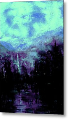 Earth Light Series Nocturne Metal Print by Len Sodenkamp