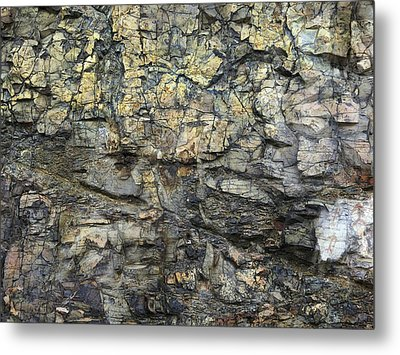 Metal Print featuring the photograph Earth Memories - Stone # 6 by Ed Hall
