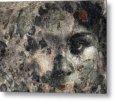 Metal Print featuring the photograph Earth Memories - Stone # 7 by Ed Hall