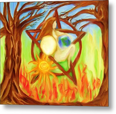 Metal Print featuring the painting Earth Mother Goddess by Shelley Bain