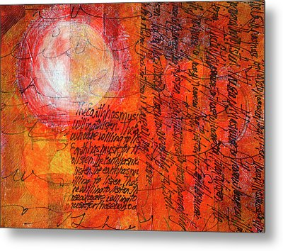 Metal Print featuring the mixed media Earth Music by Nancy Merkle