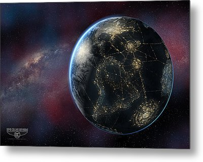 Earth One Day Metal Print by David Collins