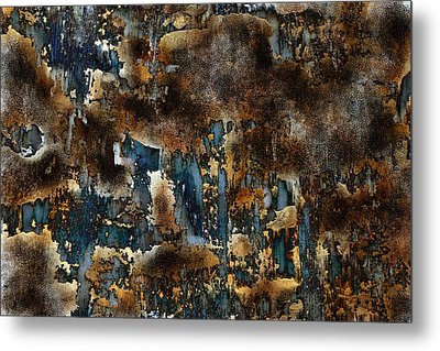 Earth Tone Abstract Metal Print by Frank Tschakert