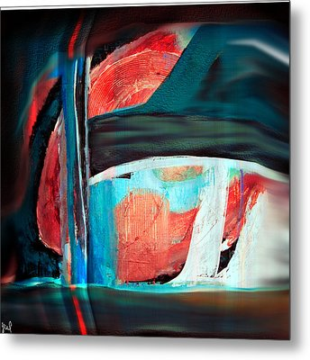 Contrast And Concept Metal Print