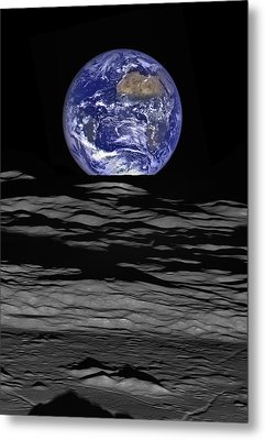 Earthrise Metal Print by Mark Kiver