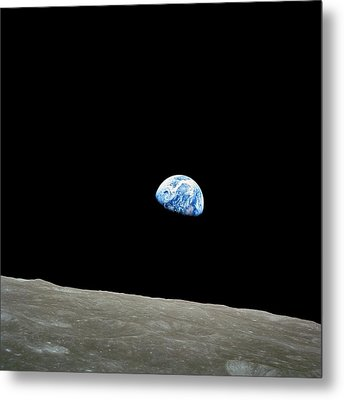 Earthrise - The Original Apollo 8 Color Photograph Metal Print