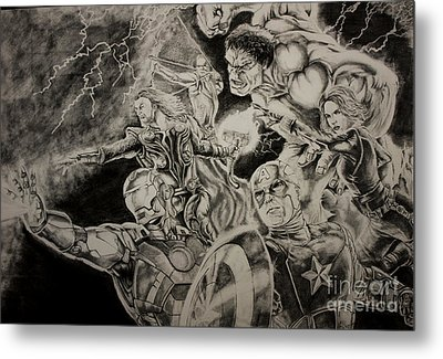 Earth's Mightiest Heroes Metal Print by Chris Volpe