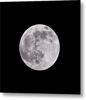Earth's Moon Metal Print
