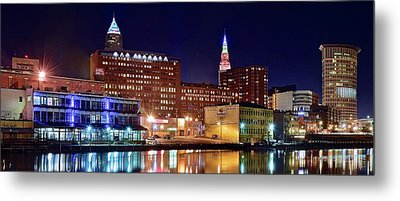 East Bank Pano Metal Print by Frozen in Time Fine Art Photography