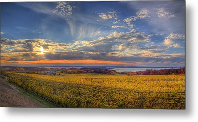East Bay From Old Mission Peninsula Metal Print by Twenty Two North Photography