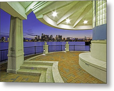 Metal Print featuring the photograph East Boston Piers Park View Of Boston by Juergen Roth