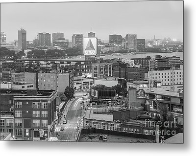 East Cambrdige Boston Skyline Aerial Citgo Sign Photo Metal Print by Paul Velgos