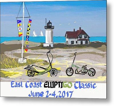 East Coast Elliptigo Classic  Opus 3 Metal Print