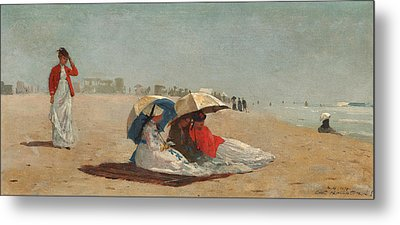 East Hampton Beach Long Island Metal Print by Winslow Homer
