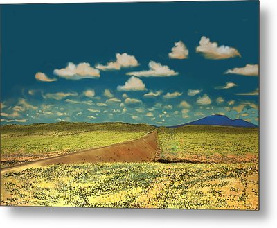 Metal Print featuring the digital art East Of Flagstaff Arizona by Kerry Beverly