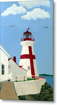 East Quoddy Head Lighthouse Metal Print by Frederic Kohli