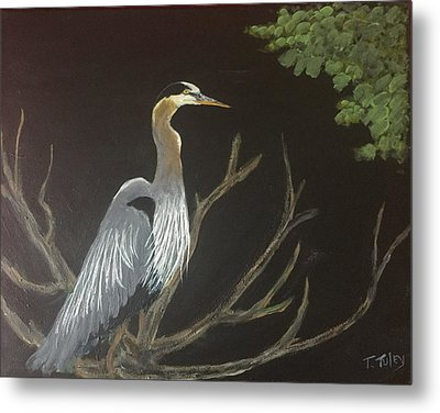 East Tennessee Blue Herron Metal Print by Terry Tuley