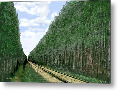 Metal Print featuring the digital art East Texas Pine Cut by Kerry Beverly