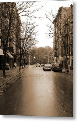 East Village In Winter Metal Print by Utopia Concepts