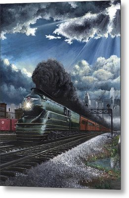 Eastbound Broadway Limited Metal Print by David Mittner