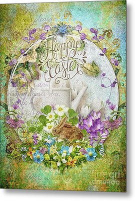 Metal Print featuring the mixed media Easter Breakfast by Mo T