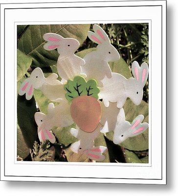 Easter Bunny Decoration Metal Print