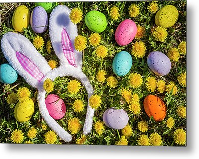 Metal Print featuring the photograph Easter Bunny Ears by Teri Virbickis