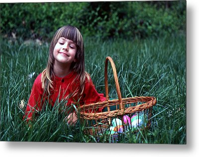 Metal Print featuring the photograph Easter Egg Hunt by Lori Miller