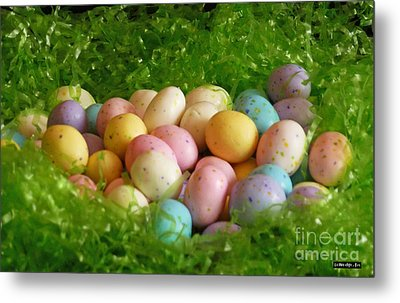 Easter Egg Nest Metal Print