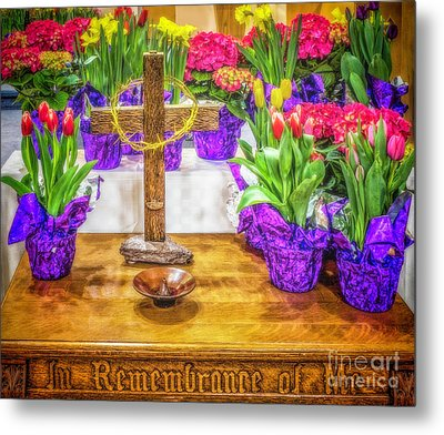 Metal Print featuring the photograph Easter Flowers by Nick Zelinsky