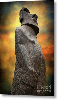 Metal Print featuring the photograph Easter Island Moai by Adrian Evans