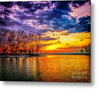 Metal Print featuring the photograph Easter Sunset At Riverview Beach Park by Nick Zelinsky