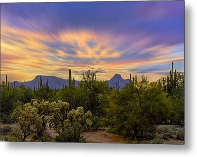 Easter Sunset H18 Metal Print by Mark Myhaver