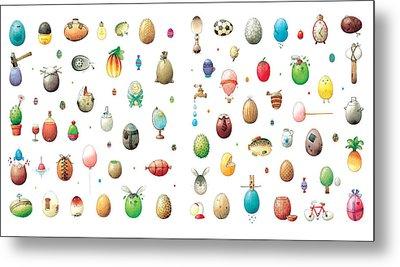 Eastereggs Metal Print by Kestutis Kasparavicius