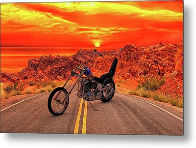 Metal Print featuring the photograph Easy Rider Chopper by Louis Ferreira