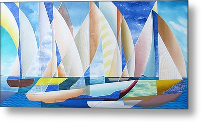 Metal Print featuring the painting Easy Sailing by Douglas Pike