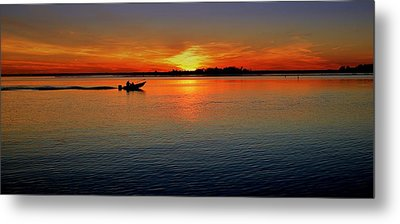 Easy Sunday Sunset Metal Print
