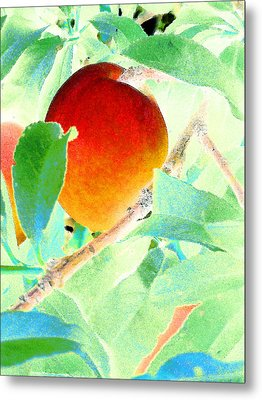 Eat A Peach Metal Print