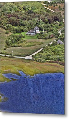 Eat Fire Spring Road Polpis Nantucket Island  Metal Print by Duncan Pearson