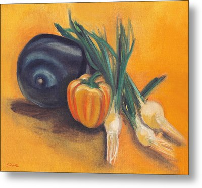 Metal Print featuring the painting Eat Your Vegetables by Shawna Rowe