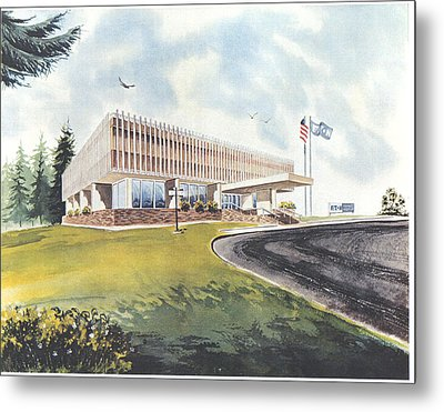 Eaton Corp Administration Building Metal Print