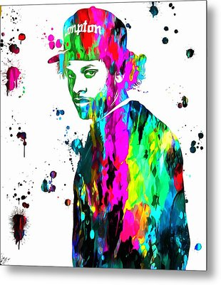 Eazy E Paint Splatter Metal Print by Dan Sproul