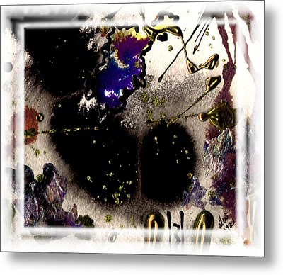 Metal Print featuring the mixed media Ebony Nights by Angela L Walker