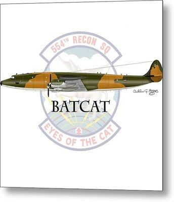 Ec-121r Batcat Metal Print
