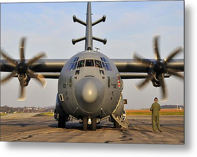 Metal Print featuring the photograph Ec-130j Commando Solo IIi by Dan Myers